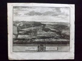 Van der Aa & Kip 1707 Antique Print. Grimsthorp in the County of Lincoln